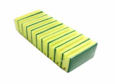 Bentley Sponge Scourer SC.03/10 - Green and Yellow Pack of 10