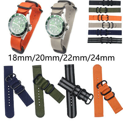 Nylon Wrist Watch Band / Strap Fits All Watches / Timex Weekender 18/20/22/24mm