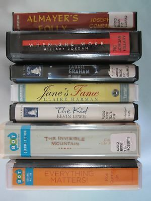 Lot of 7 Mixed General Fiction Audiobooks on CD