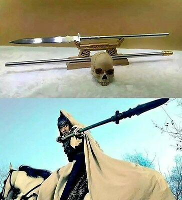 """L80"""" ZhaoYun Overlord Spear pike lance High manganese steel sword Spearhead#0072"""