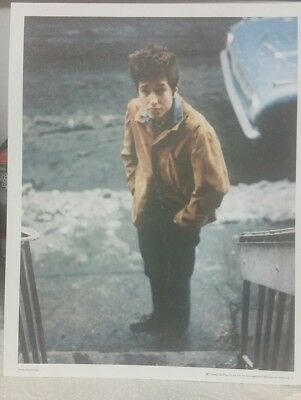 "Bob Dylan Color Promo Photo Freewheelin' Mint 8 1/2 x 11""  Don Hunstein Columbia"
