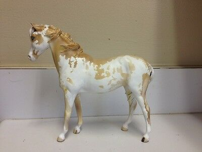 "CM Custom Breyer Model Classic""Blue Eyed Pinto Feathers Mare"" byJanice Flynn!!!"