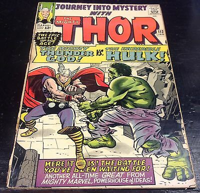 Journey into Mystery #112 (Jan 1965, Marvel) 1st Hulk vs. Thor Battle,
