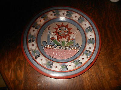 Hand Painted Mexican Folk Art Hanging Plate