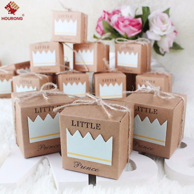 10Pcs/Lot Kraft Paper Favor Small Box Wedding Party Favor Gift Xmas Candy Boxes