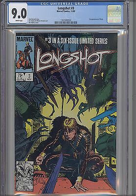 Longshot #3 CGC 9.0 1985 Voted Series of the year: First Mojo!  New Frame
