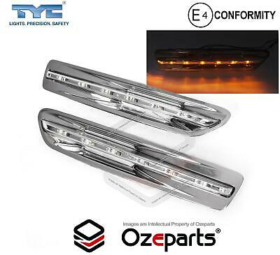 Holden Statesman WM WN Pair LH+RH LED Guard Flasher Indicator Light Lamp *CHROME