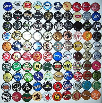 Lot (100) different beer bottle caps,crowns,collection,arts,craft,microbrewery