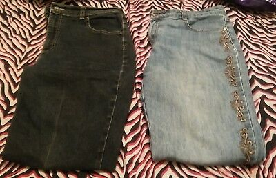 2 pairs of womens jeans size 12