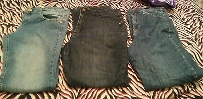 lot of 3 pairs of womens jeans size 12 & 13