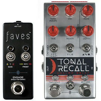 Chase Bliss Audio Tonal Recall Red Knob Mod Delay Pedal & Faves Switch