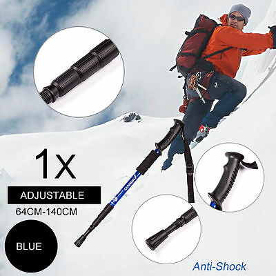 Outdoor Hiking Walking Adjustable Trail Poles Anti Shock Stick Canes 4section AU