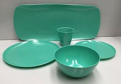 Zak Designs Mint Melamine 25Pce Dinner Set , Homewares Kitchen Outdoors Bbq