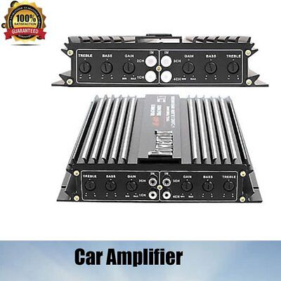 Vehicle Part Car Amplifiers 4 Channel 2800W PowerVox Amp Audio Speaker Stereo AU
