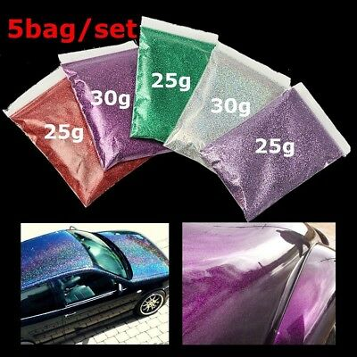 1 Set Red/Purple/Green/Silver/Lavender Glitter Glass Metal Flake Auto Car Paint