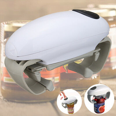 Kitchen Automatic Electric Jar Opener Can Tin Tool Gadget -Easy One Touch Button