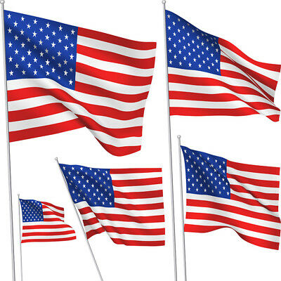 3x 5' FT American Flag USA U.S United States Stripes Stars Brass Grommets Banner