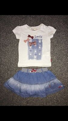 Levi's Skirt And Top Set Age 9 Months Worn Twice