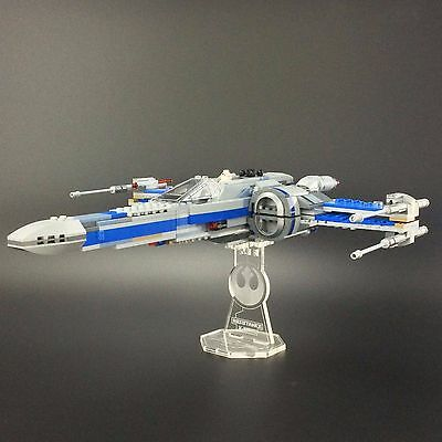 Display stand for LEGO Star Wars: Resistance X-Wing Fighter (75149)