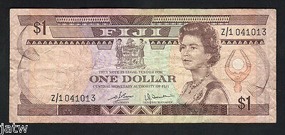 FIJI P-76R. (1980) 1 Dollar - Replacement Note. Prefix Z/1..  VF
