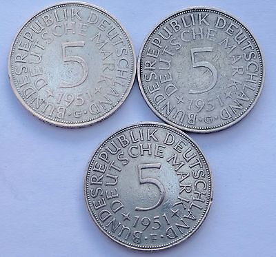 German5 Marks 1951F + 1951G X 2.