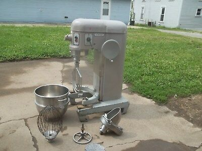 Hobart H-600 Dough Mixer with Beater, Whisk, Bowl, Grinder, Etc.