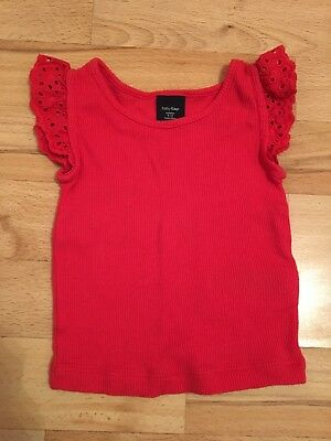 Gap Vest With Frill On Shoulders Age 6-12 Months In Excellent Condition