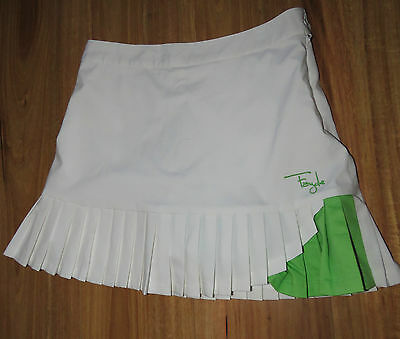 Fayde Ladies White Golf Skirt Sz 8- Fantastic Cond