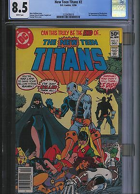 New Teen Titans # 2 CGC 8.5 White Pages. UnRestored