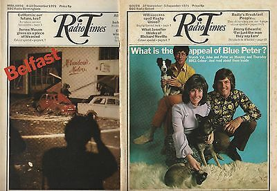 Radio Times November-December 1971 - two incomplete issues