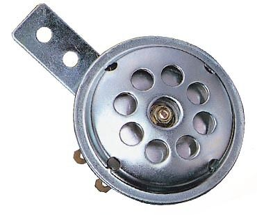 UNIVERSAL 6V A.C MOTORCYCLE HORN - 6 VOLT AC - 70mm DIAMETER - CLASSIC STYLE