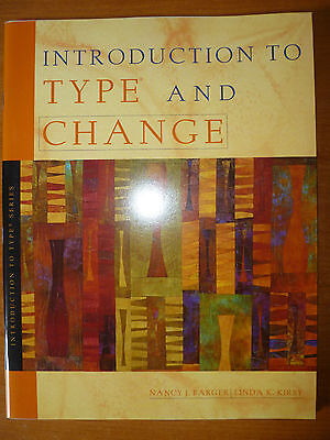 Introduction to Type and Change by Barger and Kirby  paperback, CPP