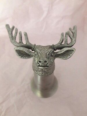 Jagermeister Stags Head Pewter Stirrup Cup Shot Glass