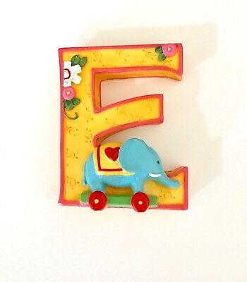 "1999 Mary Engelbreit Letter Resin Alphabet LETTER ""E"" Elephant ME Ink"