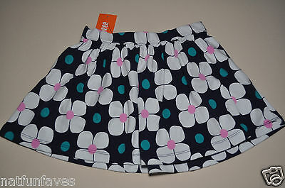 Gymboree girls elastic waist skirt size 4 NWT girl floral white and blue