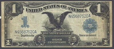 Series 1899 $1 Silver Certificate, Black Eagle, Discounted Circulated Note