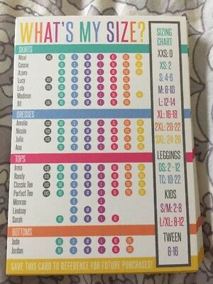 17 Lularoe Size Charts For Customers And Consultants
