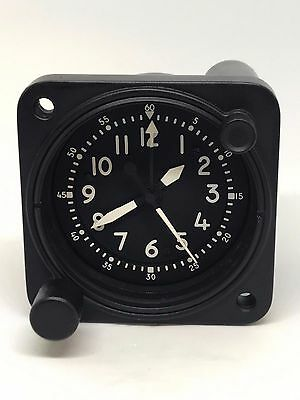 Vintage Waltham A13A  Aircraft Clock 8 Day Military Cockpit Dash Clock Serviced