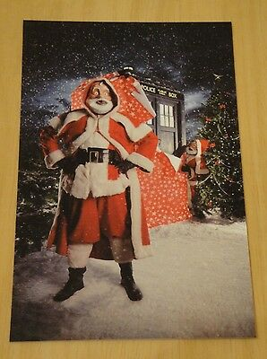 Doctor Who Printed Postcard ~ Festive Roboforms ~ New
