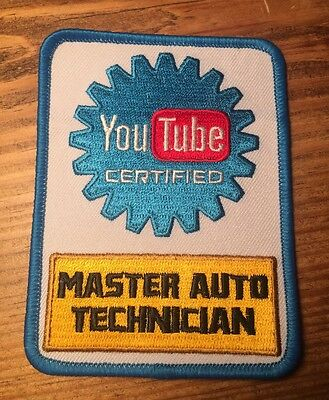 YouTube Certified Mechanic Patch - YouTube Certified Master Auto Technician