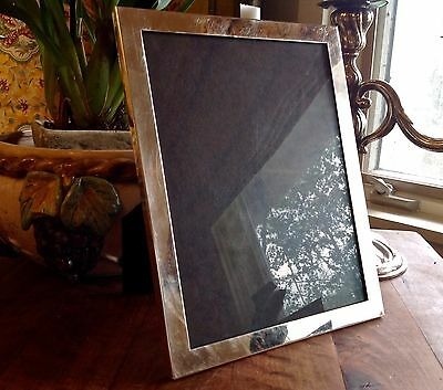 """8"""" X 10"""" TOWLE STERLING SILVER PICTURE FRAME VELVET STANDING BACk"""