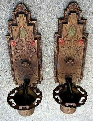 2 Art Deco Single-Candle Wall Sconce by J.C. VIRDEN CO  RD 1930t