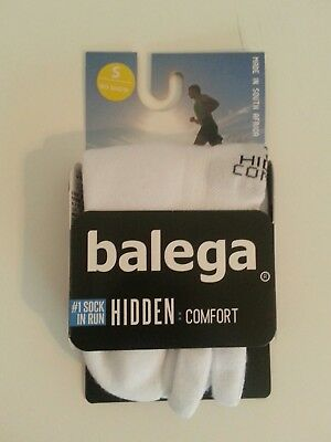 NEW!!! -BALEGA Hidden COMFORT Socks UNISEX Size S. Color: White 8025/0200/S