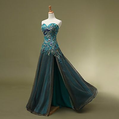 Fashion Evening Dresses Formal Peacock Party Cocktail Dress Bridesmaid Prom Gown