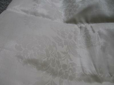 Unused-Unhemmed-Vintage Antique Double Damask Irish Linen Tablecloth-70x70-Roses