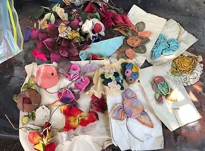 Antique German Millinery Flowers For Hats Lot