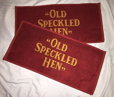 TWO (2x) Brand New OLD SPECKLED HEN Beer Bar Towel / Rag / Golf Towel