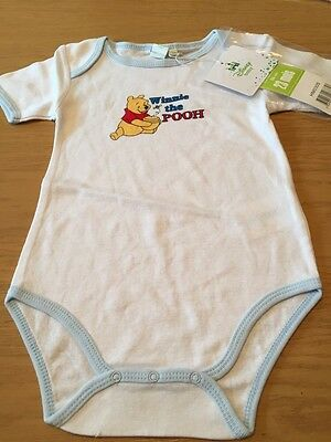 *BNWT* Boys Winnie The Pooh Body Suit By Disney Baby (23 Mths) *FREE UK P&P*