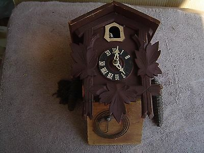 Cuckoo Clock, Hang, Repair/parts,Small, 2-weights, Chain, USA