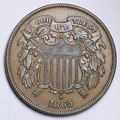 1865 Two Cent Penny CHOICE UNC FREE SHIPPING E180 AFM